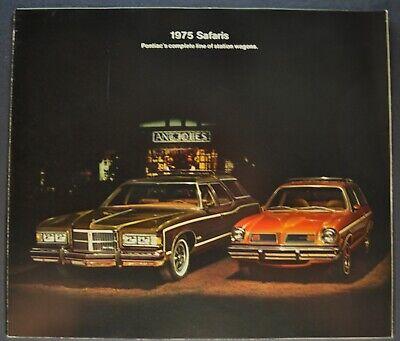 1975 Pontiac Safari Station Wagon Brochure Grand Catalina LeMans Astre Original