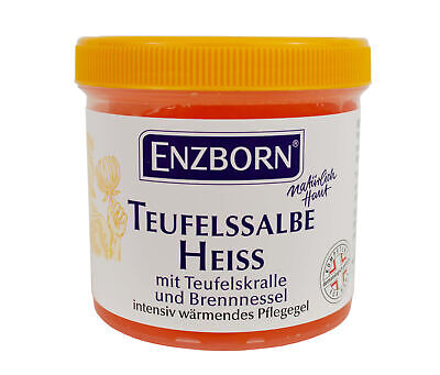 ENZBORN® Teufelssalbe heiß - 200ml mit Teufelskralle intensiv wärmend Pflegegel