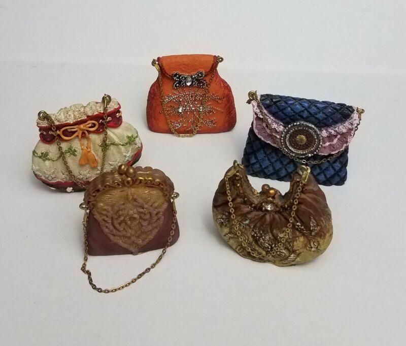 Vintage look Miniature Purses, set of 5