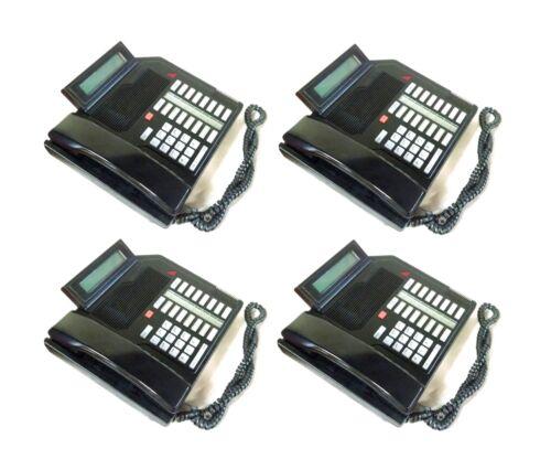 Lot of 4 Meridian/NT M2616 Business Phones w/Digital Display (Black)
