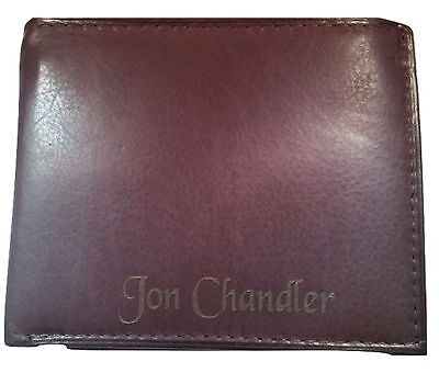 Personalized Mens Wallet Bifold Brown Leather Engraved Free Groomsman Best