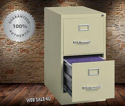 2 Drawer Steel File Cabinet Vertical Letter Deep Filing Safe Office Furniture
