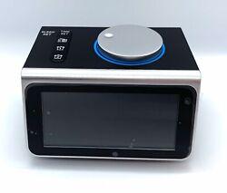 Small Alarm Clock Radio with FM Radio,Dual USB Charging Ports,Temperature