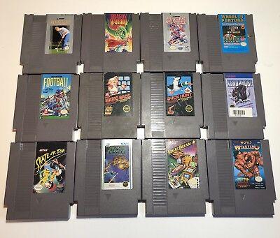 12 GAME LOT NES Nintendo ORIGINAL games TESTED GUARANTEED -- SUPER MARIO