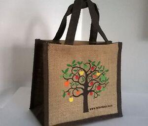Tree Jute Little Lunch Bag 25cm x 22cm x 14.5cm