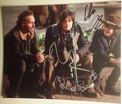 Lincoln / Reedus / Riggs - Hand Signed 8x10 - Autographed Photo - Hologram coa
