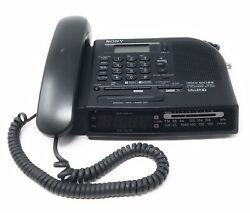 Vintage Sony Dream Machine Corded Phone Clock Radio SCT-ID10 1998