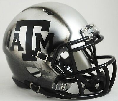 TEXAS A&M AGGIES NCAA Riddell SPEED Authentic MINI Football Helmet (ICE)