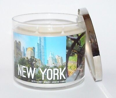 Bath   Body Works New York Rose Water Ivy Scented Candle 3 Wick 14 5 Oz Large