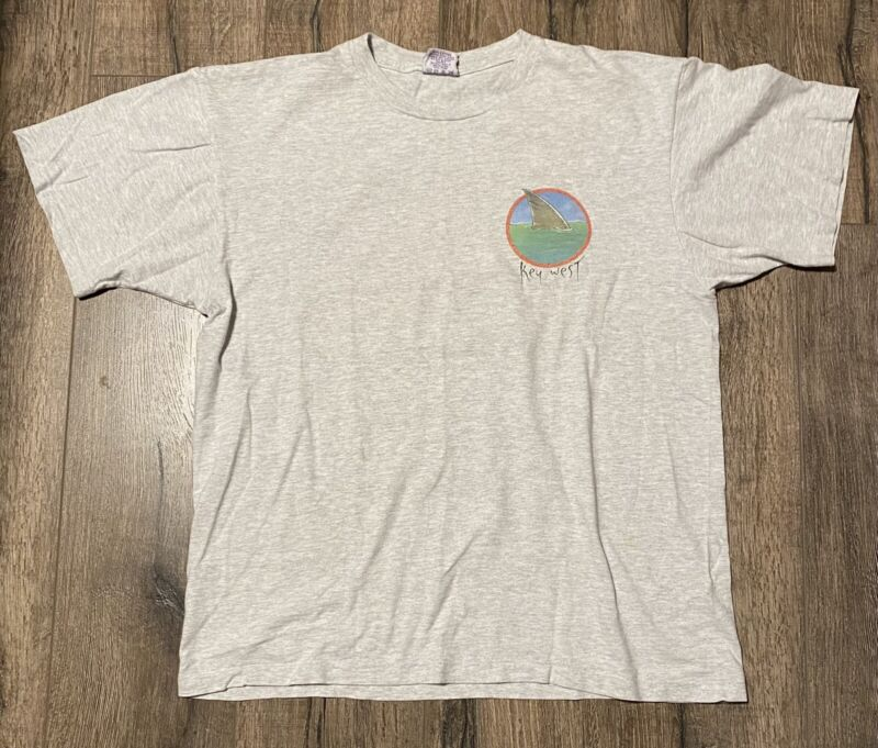 Vintage 90s Jimmy Buffett Margaritaville Key West Fins To The Left XL Shirt