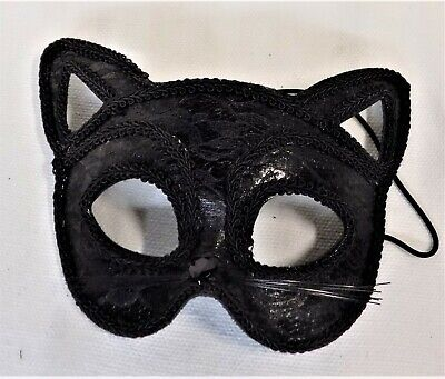 Black Cat Eye Half Mask Masquerade Fancy Party Halloween Costume Mask