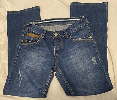 Men's Vintage Gucci Jeans Sz 29 Pockets With Leather Trimming