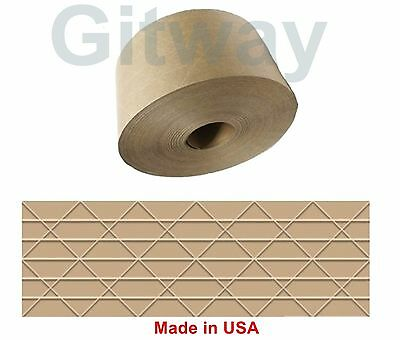 1 Roll Central 70mm X 375 Reinforced Water Activated Gummed Kraft Paper Tape