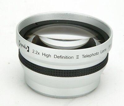 Opteka 2,2x HD (High Definition) II Telephoto Lens With 58mm Thread. Clean.