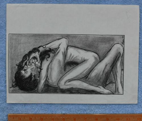 Suzan LOVETT vtg ORIGINAL ART for ST TOS fanzine Spock,1980 prob pon farr pencil