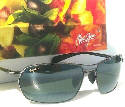 NEW* Maui Jim MALIKO GULCH Wire Aviator POLARIZED Grey Lens Sunglass (Maui Jim Aviator Glasses)