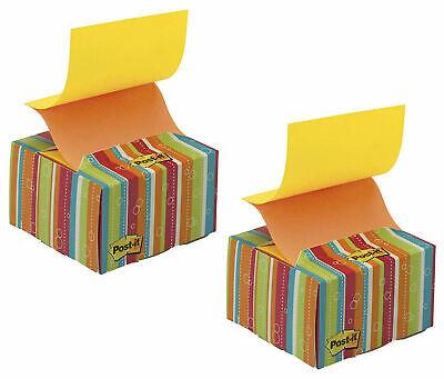 2 Pack Post-it Pop-up Notes Desk Grip Dispenser 200 3 X 3 Z-notes Stripes