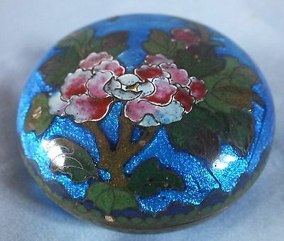 Japanese Cloisonne Ginbari Trinket Pot