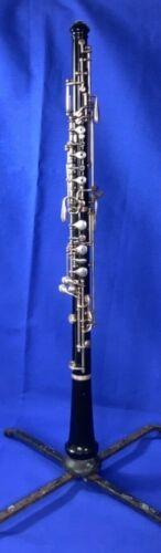 Vintage Buescher Aristocrat Oboe, B5838, w/hard case, stand, recent repads