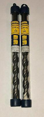 Irwin 13103 Sds 12 X 160mm .47 X 6.3 Rotary Hammer Drill Bit Set Of 2