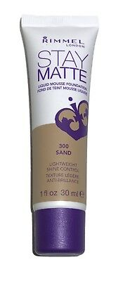 RIMMEL LONDON - STAY MATTE LIQUID MOUSSE FOUNDATION - 300 SAND - PICK QUANTITY