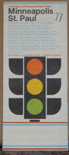 1977 Gousha Street Map of Minneapolis-St Paul, Minnesota