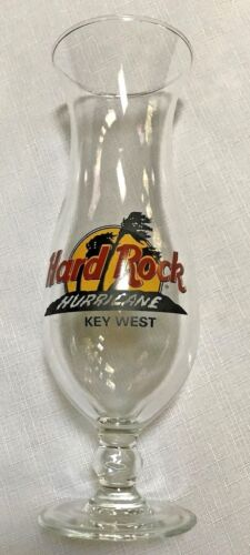 "HARD ROCK CAFE Key West Tall Glass- ""Hurricane"" EUC"