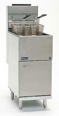 Pitco 45cs Economy 45 - 50 Lb Tube Fired Gas Fryer W Millivolt Control