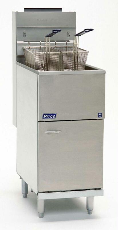 Pitco 40d 40 Lb Capacity 4 Tube Gas Fired Deep Fryer 107kbtu