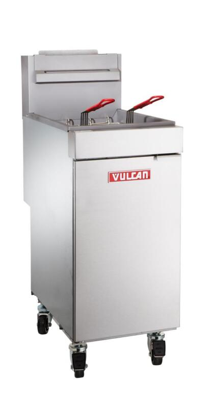 Vulcan Lg300 35-40 Lb. Freestanding Economy Gas Fryer - Millivolt