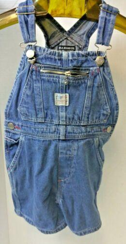 RARE Vintage Polo Jeans Co Ralph Lauren Kids 3T Denim Overall Shorts Jeans