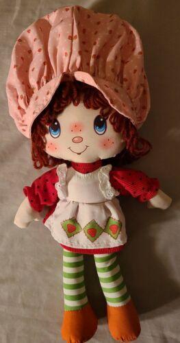 Strawberry Shortcake Rag Doll Vintage Inspired 2016 15 Plush Toy Yarn Hair  - $6.47