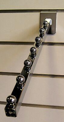 3x Abhängehaken/Kleiderhaken für Spacewall Schräg Silber