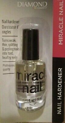 NEW Diamond MIRACLE NAIL Clear Coat Nail Hardener Strengthener Treatment Polish Clear Nail Polish
