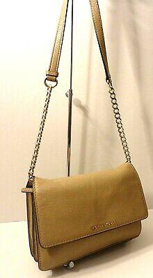Michael Kors Bedford Logo Genuine Leather Crossbody Shoulder Cards Bag Purse