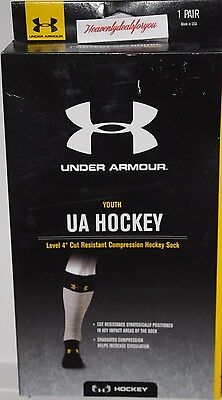 NWT Under Armour Boy's YOUTH Large Hockey Level 4 Compression Hockey Socks