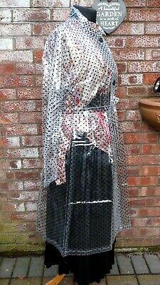 shiny glass clear glass c thro polka dot PVC raincoat 50 chest...