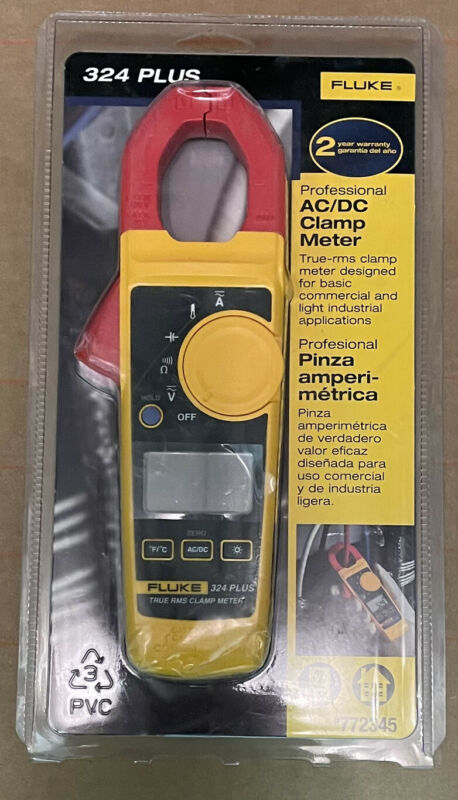 Fluke 324 Plus Professional AC/DC Clamp Meter 772345 NEW SEALED