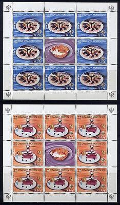 Montenegro 2005 CEPT Gastronomie Kleinbögen 104-5 I Postfrisch MNH