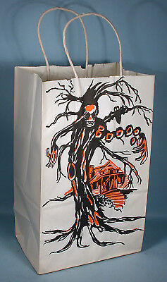 1950-1960s Halloween Uncommon Trick Or Treat Candy Bag Haunted House + Extras