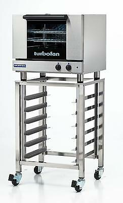 Moffat E22m3sk23 Electric Convection Oven 3 Half Size Pan W Mobile Stand