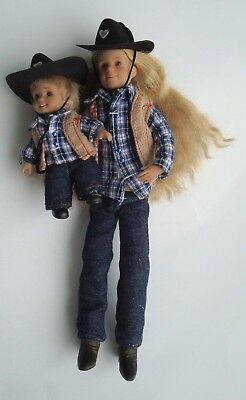 RARE Only Hearts Club Dolls Taylor Angelique and Little Brother Trevor ~ Cowboy