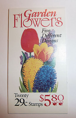 US Postage Stamp Booklet American GARDEN FLOWERS Mint 20 x .29 1993