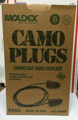 Moldex Camo Ear Plugs Corded 100 Pvc-free Nrr 33 Hearing Protection