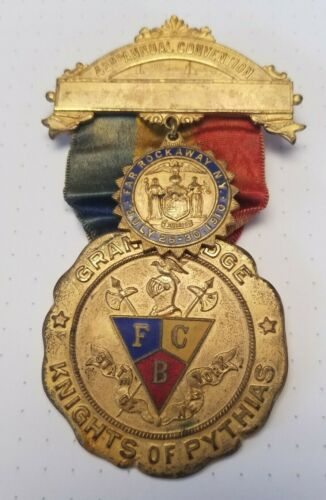 Knights of Pythias New York Grand Lodge 1910 42nd Annual Convention Medal