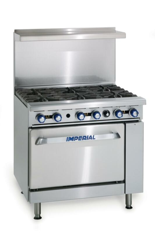 "Imperial Range Ir-6 36"" Restaurant Range With 6 Open Gas Burners & Standard Oven"