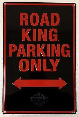 Ande Rooney HARLEY DAVIDSON ROAD KING PARKING ONLY Tin HD Motorcycle Garage Sign