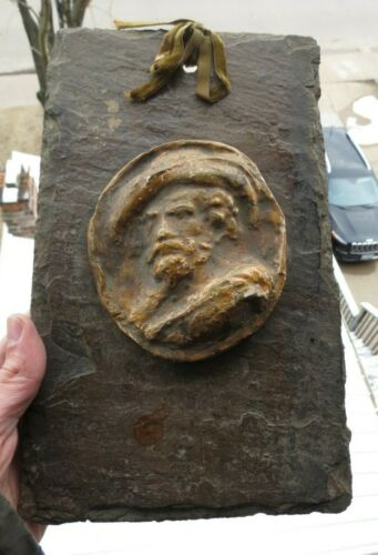 Antique Roof Ceiling Boss Depicting French Warrior French Quarter New Orleans