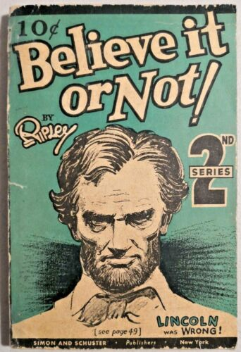 1933 Believe It or Not by Ripley2nd SeriesOriginal New York Very Rare -- 3592