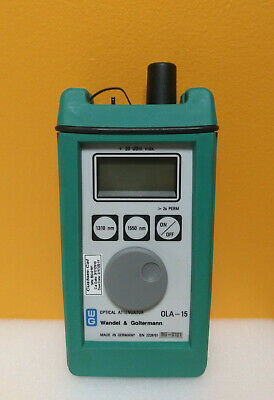Wandel Goltermann Ola-15 1260 To 1625nm 4 Digit Optical Attenuator Tested